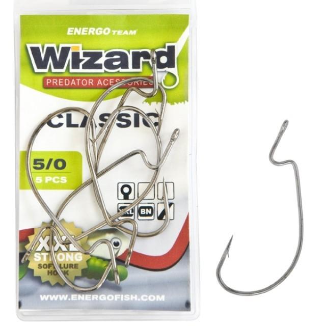 Carlige WIZARD DROP-SHOT 4/0# 5Buc/Plic - 46505400