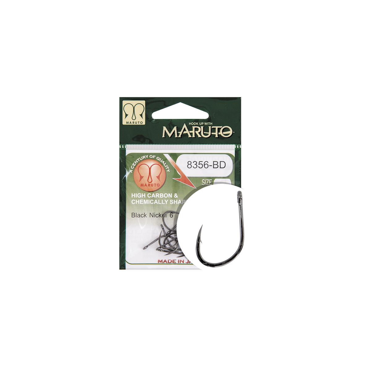 CARLIGE MARUTO 8356-BD CARP HOOKS BARBED FORGED STRAIGHT E - 43205004