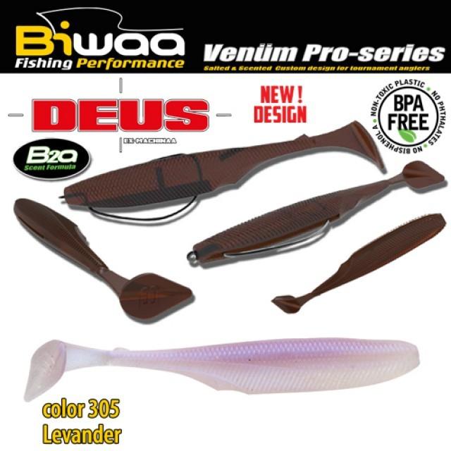 "SHAD DEUS BIWAA 6"" 15cm 305 Lavander 4buc/plic - B001375"