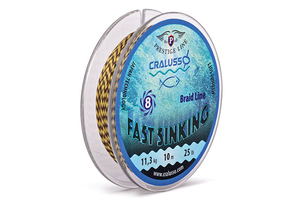 FIR TEXTIL CRALUSSO Fast Sinking Braided Hooklength (10m) -25lb - 33909325