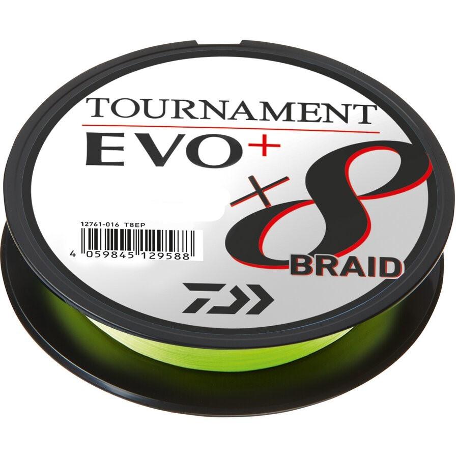 FIR MULTIFILAMENT DAIWA TOURNAMENT 8XBRAID EVO+ CHARTR. 0,12MM/8,6KG/135M - D.12761.012