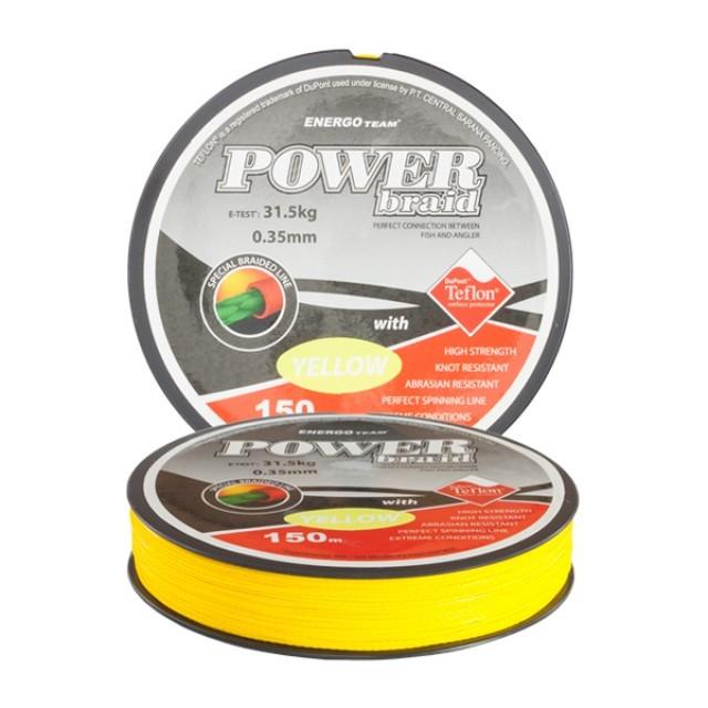 Fir EnergoTeam Power Braid Teflon 0,35mm Galben Fluo - 30900135
