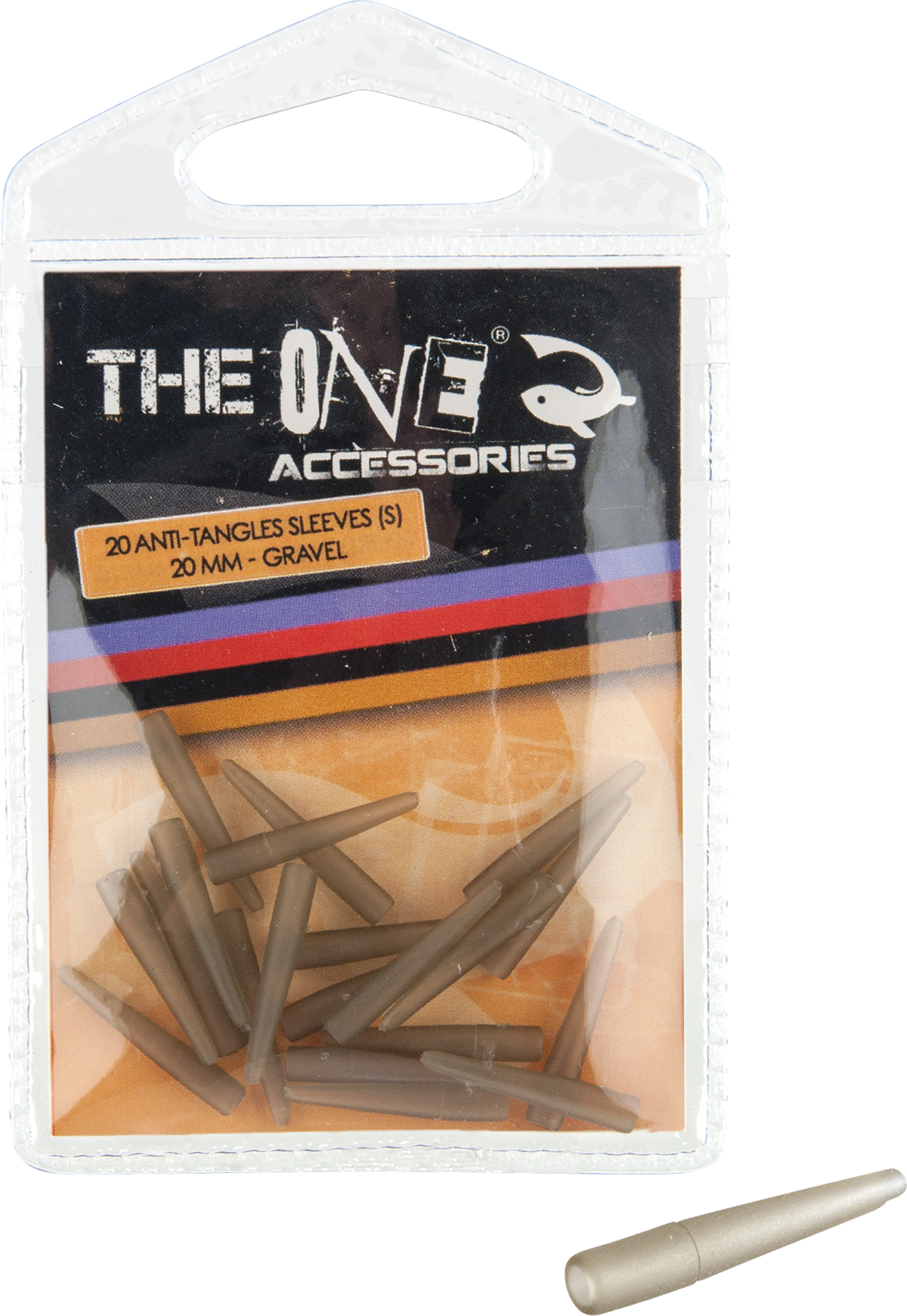 CONURI THE ONE ANTI-TANGLES SLEEVES 20mm GRAVEL 20db - 79040022