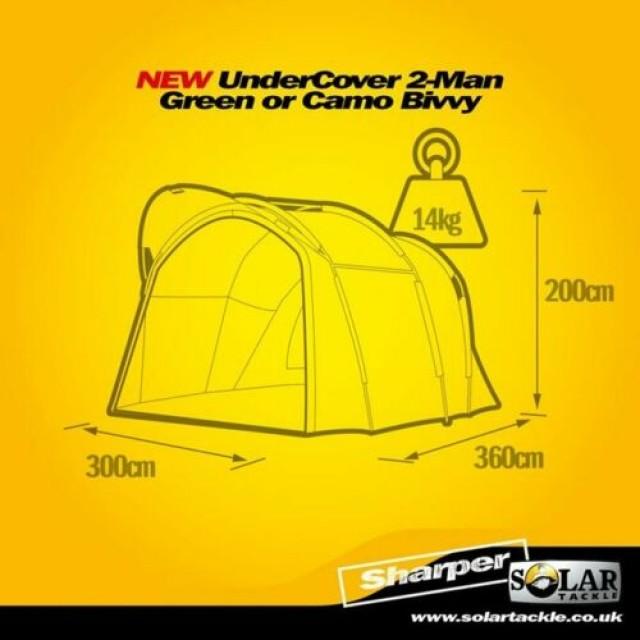 CORT SOLAR UNDERCOVER GREEN 2 MAN BIVVY - UG33